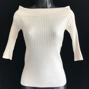 Cache Cream Off The Shoulder Blouse Top